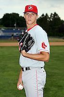 July 10th 2008:  Pitcher Bryan Price of the Lowell Spinners, Class-A affiliate of the Boston Red Sox, during a game at Dwyer Stadium in Batavia, NY.  Photo by:  Mike Janes/Four Seam Images