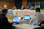 "DJERBA - TUNISIA - 13 March 2012 -- European Training Foundation (ETF) / Tunisian Ministry of Vocational Training and Employment (MFPE) Project Launch -  ""Human Capital for Regional Socio-Economic Development (Medenine, Tunisia)"". --  (C) Lassaad LABASSI, Regional Director for Vocational Training and Employment,  (R) Marie Dorleans, ETF Tunisia. -- PHOTO: Lindsay MACKENZIE / EUP-IMAGES."