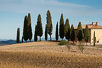Landscapes around Pienza in the Val d' Orcia region of Tuscany, Italy