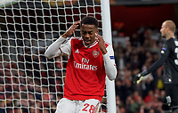 Joe Willock of Arsenal after a missed opportunity  during the UEFA Europa League match between Arsenal and Standard Liege at the Emirates Stadium, London, England on 3 October 2019. Photo by Andrew Aleks.