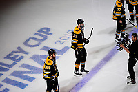 June 6, 2019: Boston Bruins defenseman Zdeno Chara (33) is introduced before game 5 of the NHL Stanley Cup Finals between the St Louis Blues and the Boston Bruins held at TD Garden, in Boston, Mass. The Blues defeat the Bruins 2-1 in regulation time. Eric Canha/CSM