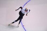 SPEEDSKATING: CALGARY: 14-11-2015, Olympic Oval, ISU World Cup, 1000m B-division, Bart Swings (BEL), ©foto Martin de Jong