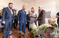 03 April 2019 - UK - Prince Charles Prince of Wales visits the Old Courts to learn about the buildingís restoration into a community arts centre and meet participants from a variety of local arts projects, pictured at the Old Courts. Photo Credit: ALPR/AdMedia