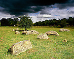 Grey Wethers, Lockridge, Wiltshire. England. Celtic Britain published by Orion. Stones like these were used by prehistoric man to construct monuments such as Avebury, Stonehenge, and the Devils Den all in Wiltshire.