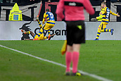 2nd February 2019, Allianz Stadium, Turin, Italy; Serie A football, Juventus versus Parma; Gervinho of Parma celebrates with Antonino Barilla of Parma after scoring the goal for 3-3 against Juventus in the 90th minute
