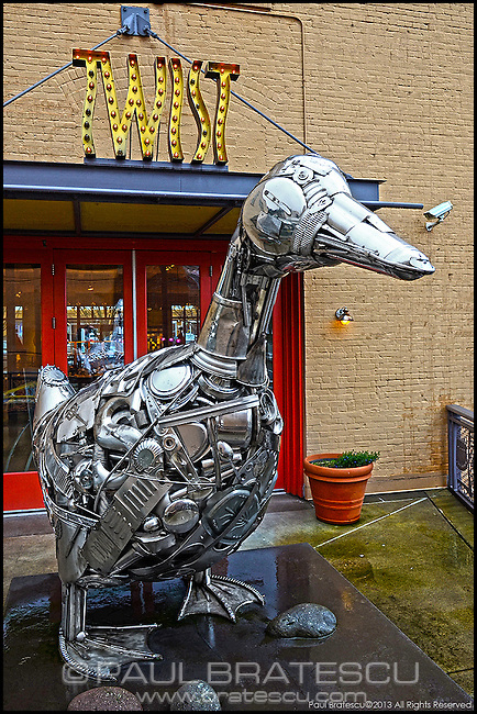 Mechanical fabricated duck, it is amazing and it was made of scrap parts. It was designed & built by a gentleman by the name of Leo Sewell who lives in Philadelphia. Apparently he grew up near a dump, I can see were he got his inspiration. People are so creative.