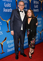 LOS ANGELES, CA. February 17, 2019: Adam McKay & Shira Piven at the 2019 Writers Guild Awards at the Beverly Hilton Hotel.<br /> Picture: Paul Smith/Featureflash