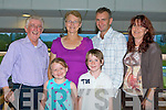 FUN NIGHT: Having a fun night at the Kingdom Greyhound Stadium Night at the Dogs on Friday l-r: Noel O'Sullivan, Claudia Rahilly, Daeen, Daryl, Jeffery and Catherine O'Sullivan from Hawley Park and Boston, USA.