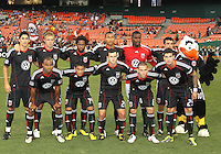 Starting eleven of D.C. United during an MLS match against the Columbus Crew at RFK Stadium on September 4 2010, in Washington DC. Columbus won 1-0.