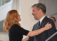 Amy Adams &amp; Denis Villeneuve at Hollywood Walk of Fame Star Ceremony honoring actress Amy Adams.<br /> Los Angeles, USA 11th January  2017<br /> Picture: Paul Smith/Featureflash/SilverHub 0208 004 5359 sales@silverhubmedia.com