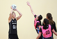 Silver Fern's jodi Brown training for the New World Netball Series match, Wallacetown Stadium, Invercargill, New Zealand, Saturday, September 14, 2013. ©MBPHOTO/Dianne Manson Michael Bradley Photography