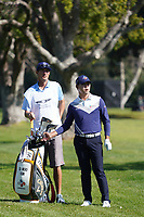 Si Woo Kim (KOR) in action during the Pro-Am ahead of the The Genesis Invitational, Riviera Country Club, Pacific Palisades, Los Angeles, USA. 11/02/2020<br /> Picture: Golffile | Phil Inglis<br /> <br /> <br /> All photo usage must carry mandatory copyright credit (© Golffile | Phil Inglis)