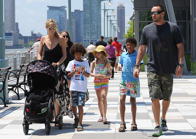 WWW.ACEPIXS.COM<br /> June 20, 2013, New York City<br /> <br /> Heidi Klum and Martin Kristen with the family in Hudson River Park on June 20, 2013.<br /> <br /> By Line: Kristin Callahan/ACE Pictures<br /> ACE Pictures, Inc.<br /> tel: 646 769 0430<br /> Email: info@acepixs.com<br /> www.acepixs.com<br /> Copyright:<br /> Kristin Callahan/ACE Pictures