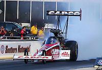 May 16, 2014; Commerce, GA, USA; NHRA top fuel dragster driver Steve Torrence during qualifying for the Southern Nationals at Atlanta Dragway. Mandatory Credit: Mark J. Rebilas-USA TODAY Sports