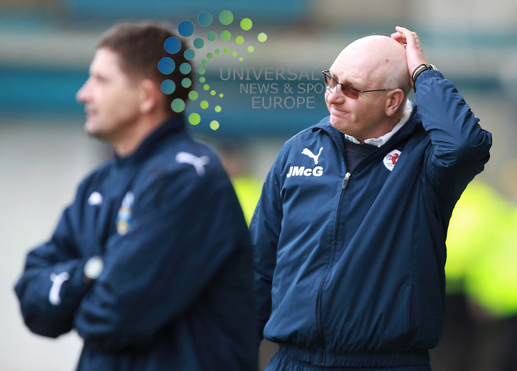 Raith Rovers manager John McGlynn during the Morton FC v Raith Rovers at Cappielow Park, Greenock.Picture: Universal News And Sport (Europe).19 March 2011....