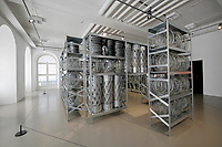 Kassel, Germany. Opening days of documenta14.<br /> Fridericianum.<br /> Kendell Geers: Acropolis Redux (the Director's Cut), 2004