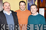 Mike O'Connell(Abbeyfeale) and Frank and Sean Woulfe(athea) pictured last Saturday for opening night of the John B Keane play, 'The Year of the Hiker' in Fr Casey's GAA Club, Abbeyfeale.