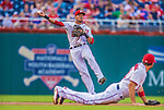 26 July 2013: Washington Nationals shortstop Ian Desmond in action against the New York Mets at Nationals Park in Washington, DC. The Nationals bounced back from their loss in the first game of their day/night doubleheader, with a 2-1 nightcap win. Mandatory Credit: Ed Wolfstein Photo *** RAW (NEF) Image File Available ***