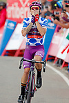 Polka Dot Jersey Angel Madrazo Ruiz (ESP) Burgos-BH wins Stage 5 of La Vuelta 2019 running 170.7km from L'Eliana to Observatorio Astrofisico de Javalambre, Spain. 28th August 2019.<br /> Picture: Luis Angel Gomez/Photogomezsport | Cyclefile<br /> <br /> All photos usage must carry mandatory copyright credit (© Cyclefile | Luis Angel Gomez/Photogomezsport)