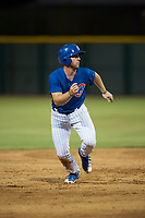 AZL Cubs 1 third baseman Luke Reynolds (16) breaks towards third base during an Arizona League game against the AZL Padres 1 at Sloan Park on July 5, 2018 in Mesa, Arizona. The AZL Cubs 1 defeated the AZL Padres 1 3-1. (Zachary Lucy/Four Seam Images)