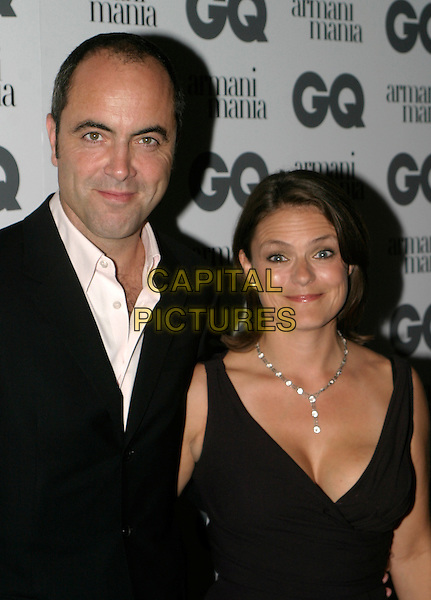 JAMES NESBIT & WIFE.The 8th Anual GQ Men of The Year Awards,.The Royal Opera House,.London, 6th September 2005.portrait hedshot black suit white shirt dress.www.capitalpictures.com.sales@capitalpictures.com.© Capital Pictures.