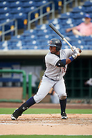 Lakeland Flying Tigers left fielder Christin Stewart (20) at bat during a game against the Clearwater Threshers on August 5, 2016 at Bright House Field in Clearwater, Florida.  Clearwater defeated Lakeland 3-2.  (Mike Janes/Four Seam Images)