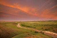 Sunset over Cheyenne River Valley in Buffalo Gap National Grassland, South Dakota, AGPix_0360.