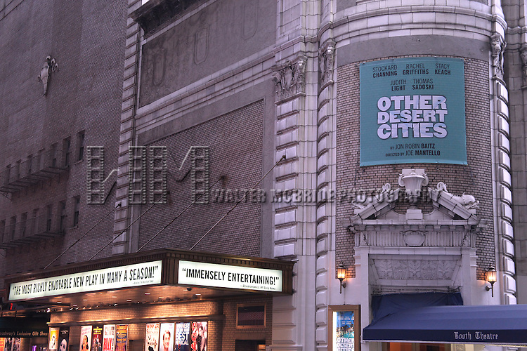 'Other Desert Cities' Theatre Marquee unveiling at the Booth in New York City.