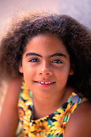 Young polynesian girl at the age of 10