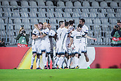 28th September 2017, Partizan Stadium, Belgrade, Serbia; UEFA Europa League group stage, Partizan versus Dynamo Kiev; Players of Partizan celebrate their 1st goal for 1-0