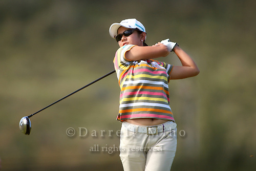 February 17, 2006; Kahuku, HI - Ai Miyazato tees off during the second round at the LPGA SBS Open at Turtle Bay Resort...Mandatory photo credit: Darrell Miho.© Darrell Miho