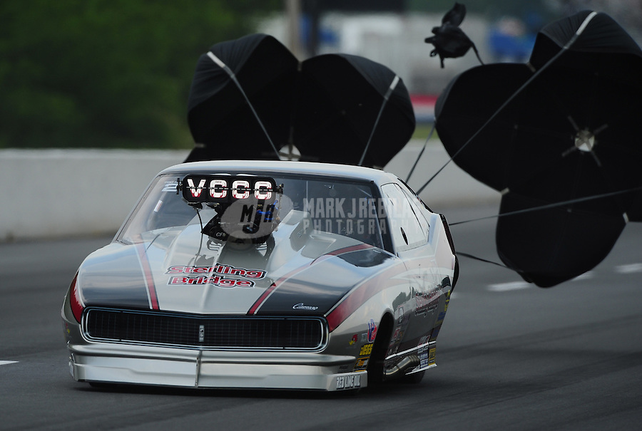 May 13, 2011; Commerce, GA, USA: NHRA pro mod driver Danny Rowe during qualifying for the Southern Nationals at Atlanta Dragway. Mandatory Credit: Mark J. Rebilas-