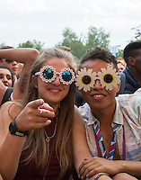 Plenty of colour in the crowd during The New Look Wireless Music Festival at Finsbury Park, London, England on Friday 03 July 2015. Photo by Andy Rowland.