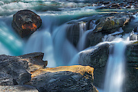 Sunwapta Falls in the Canadian Rocky Mountains <br /> Jasper National Park<br /> Alberta<br /> Canada