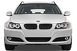 Straight front view of a 2009 bmw 3 series wagon 328