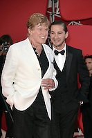 VENICE, ITALY - SEPTEMBER 06: Robert Redford and Shia LaBeouf at the 'The Company You Keep' Premiere during the 69th Venice Film Festival at the Palazzo del Casino on September 6, 2012 in Venice, Italy. &copy;&nbsp;Maria Laura Antonelli/AGF/MediaPunch Inc. ***NO ITALY*** /NortePhoto.com<br />