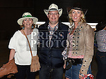 Mark and Ruth McCartney and Fionnuala Rogers pictured at the barn dance in aid of Ballapousta National School at Oberstown Farm. Photo:Colin Bell/pressphotos.ie