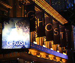 Theatre Marquee for the Broadway Opening Night Performance Curtain Call for  'GHOST' a the Lunt-Fontanne Theater on 4/23/2012 in New York City.