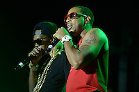 "Largo, MD - July 12, 2014: Grammy award winning Hip Hop entertainer and actor Ludacris (r) performs at the 1st annual International Festival at the Largo Town Center in Largo, MD, July 12, 2014. He is also known for his roles in the ""Fast and Furious"" movies. (Photo by Don Baxter/Media Images International)"