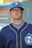 Bryce Massanari #25 of the Asheville Tourists poses during media day at McCormick Field on April 4, 2011 in Asheville, North Carolina.  Photo by Tony Farlow / Four Seam Images..
