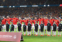 Spainish's team<br /> Spain vs Argentina selections team pre Russian Soccer World Cup football match at Wanda Metropolitano stadium in Madrid on March 27, 2018.