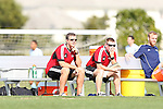January 11, 2013: Todd Yeagley (Indiana) (left) and Paul O'Brien (Placer United) (right). Day 1 of the Combine. The 2013 adidas MLS Player Combine was held January 11-15, 2013 at Central Broward Regional Park in Lauderhill, Florida.