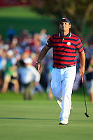 Patrick Reed (Team USA) on the 16th during Saturday afternoon Fourball at the Ryder Cup, Hazeltine National Golf Club, Chaska, Minnesota, USA.  02/10/2016<br /> Picture: Golffile | Fran Caffrey<br /> <br /> <br /> All photo usage must carry mandatory copyright credit (&copy; Golffile | Fran Caffrey)