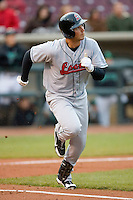 Travis Vetters #30 of the Great Lakes Loons hustles down the first base line versus the Dayton Dragons at Fifth Third Field April 21, 2009 in Dayton, Ohio. (Photo by Brian Westerholt / Four Seam Images)