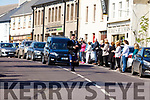 Piper Gerard Bayham leading the funeral of Rev Canon Michael Fleming PP in Killorglin on Tuesday.