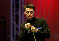 25th February 2020; Waterfront, Southport, Merseyside, England; World Snooker Championship, Coral Players Championship; Michael Holt (ENG) looks at the scoreboard during his first round match against Judd Trump (ENG), which he lost 3-6