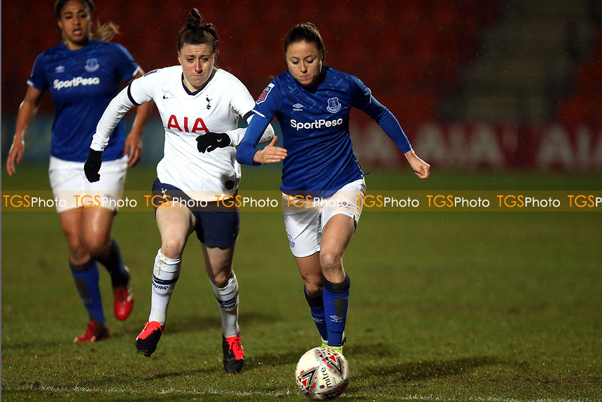 Lucy Quinn of Tottenham Hotspur women and Danielle Turner of Everton women   during Tottenham Hotspur Women vs Everton Women, Barclays FA Women's Super League Football at the Hive Stadium on 12th February 2020