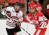 Cassie Sperry (NU - 21), Melissa Tetreau (BU - 20) - The Northeastern University Huskies defeated the Boston University Terriers in a shootout after being tied at 4 following overtime in their Beanpot semi-final game on Tuesday, February 2, 2010 at the Bright Hockey Center in Cambridge, Massachusetts.