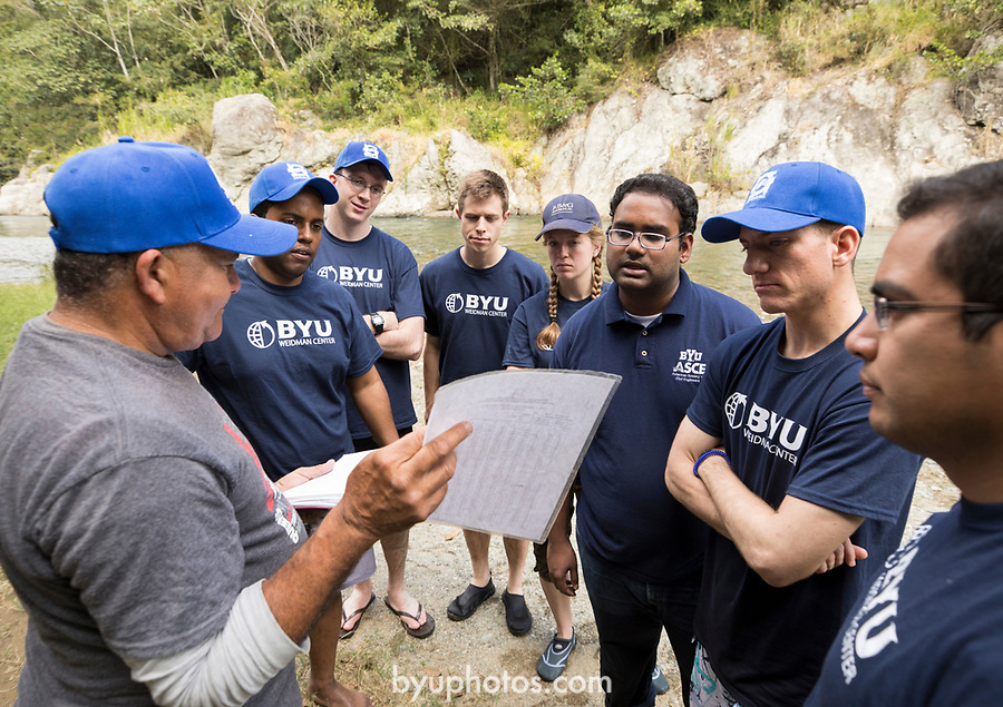 1702-31 4293<br /> <br /> 1702-31 Study Abroad Dominican Republic<br /> <br /> Dr. Jim Nelson leads a BYU Study Abroad Group to the Dominican Republic to study international challenges in water resources.<br /> <br /> The group tours meets at Plan Sierra to discuss project proposals with representatives from Plan Sierra and INDRHI.<br /> <br /> February 7, 2017<br /> <br /> Photo by Jaren Wilkey/BYU<br /> <br /> &copy; BYU PHOTO 2017<br /> All Rights Reserved<br /> photo@byu.edu  (801)422-7322