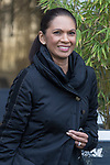 © Joel Goodman - 07973 332324 . 05/03/2017 . London , UK . GINA MILLER leaves ITV studios on South Bank after appearing on the Peston on Sunday show . Photo credit : Joel Goodman